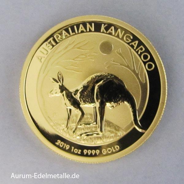 Anlagegold Australien-1-oz-Kangaroo-Nugget-Goldmünze-2019